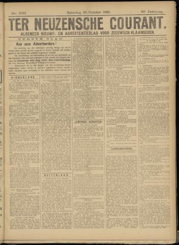 Ter Neuzensche Courant. Algemeen Nieuws- en Advertentieblad voor Zeeuwsch-Vlaanderen / Neuzensche Courant ... (idem) / (Algemeen) nieuws en advertentieblad voor Zeeuwsch-Vlaanderen 1920-10-30