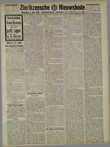 Zierikzeesche Nieuwsbode 1921-07-04