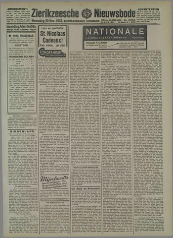 Zierikzeesche Nieuwsbode 1933-11-29