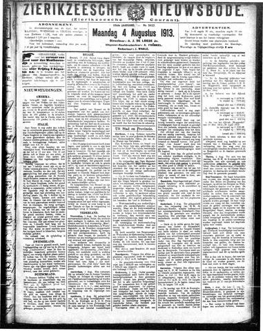 Zierikzeesche Nieuwsbode 1913-08-04