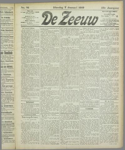 De Zeeuw. Christelijk-historisch nieuwsblad voor Zeeland 1919-01-07