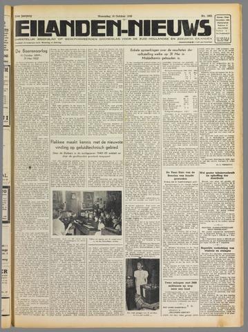 Eilanden-nieuws. Christelijk streekblad op gereformeerde grondslag 1949-10-19