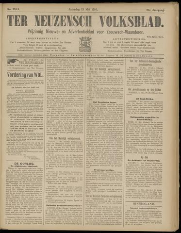 Ter Neuzensch Volksblad. Vrijzinnig nieuws- en advertentieblad voor Zeeuwsch- Vlaanderen / Zeeuwsch Nieuwsblad. Nieuws- en advertentieblad voor Zeeland 1916-05-13