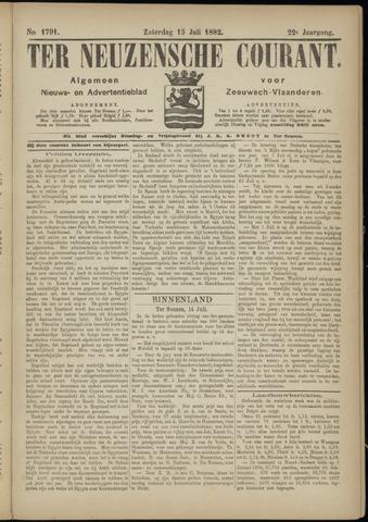Ter Neuzensche Courant. Algemeen Nieuws- en Advertentieblad voor Zeeuwsch-Vlaanderen / Neuzensche Courant ... (idem) / (Algemeen) nieuws en advertentieblad voor Zeeuwsch-Vlaanderen 1882-07-15