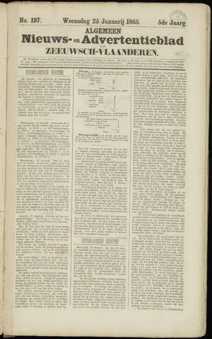 Ter Neuzensche Courant. Algemeen Nieuws- en Advertentieblad voor Zeeuwsch-Vlaanderen / Neuzensche Courant ... (idem) / (Algemeen) nieuws en advertentieblad voor Zeeuwsch-Vlaanderen 1865-01-25