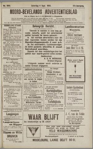 Noord-Bevelands Nieuws- en advertentieblad 1926-09-04