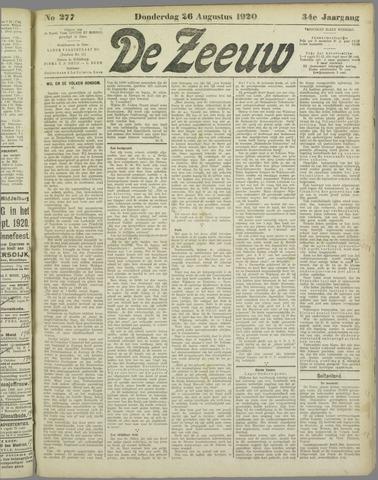 De Zeeuw. Christelijk-historisch nieuwsblad voor Zeeland 1920-08-26
