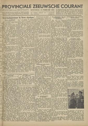 Provinciale Zeeuwse Courant 1944-02-16