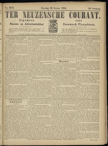 Ter Neuzensche Courant. Algemeen Nieuws- en Advertentieblad voor Zeeuwsch-Vlaanderen / Neuzensche Courant ... (idem) / (Algemeen) nieuws en advertentieblad voor Zeeuwsch-Vlaanderen 1894-10-20
