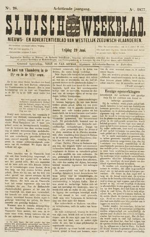 Sluisch Weekblad. Nieuws- en advertentieblad voor Westelijk Zeeuwsch-Vlaanderen 1877-06-29