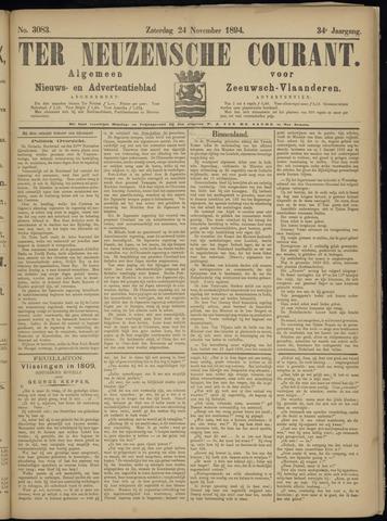 Ter Neuzensche Courant. Algemeen Nieuws- en Advertentieblad voor Zeeuwsch-Vlaanderen / Neuzensche Courant ... (idem) / (Algemeen) nieuws en advertentieblad voor Zeeuwsch-Vlaanderen 1894-11-24