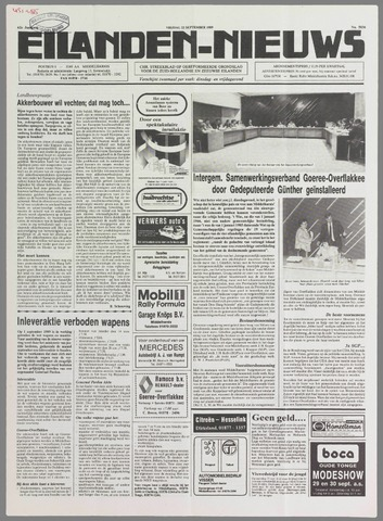 Eilanden-nieuws. Christelijk streekblad op gereformeerde grondslag 1989-09-22