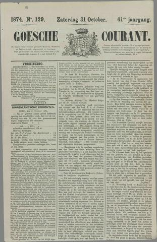 Goessche Courant 1874-10-31