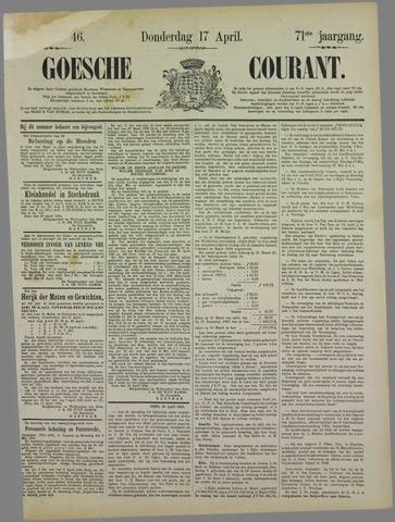 Goessche Courant 1884-04-17