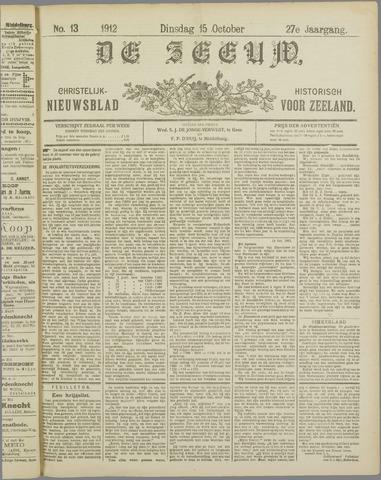 De Zeeuw. Christelijk-historisch nieuwsblad voor Zeeland 1912-10-15