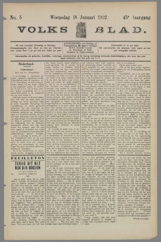 Volksblad 1922-01-18