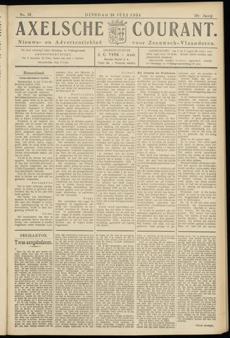 Axelsche Courant 1934-07-24