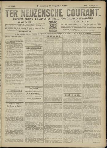 Ter Neuzensche Courant. Algemeen Nieuws- en Advertentieblad voor Zeeuwsch-Vlaanderen / Neuzensche Courant ... (idem) / (Algemeen) nieuws en advertentieblad voor Zeeuwsch-Vlaanderen 1920-08-19