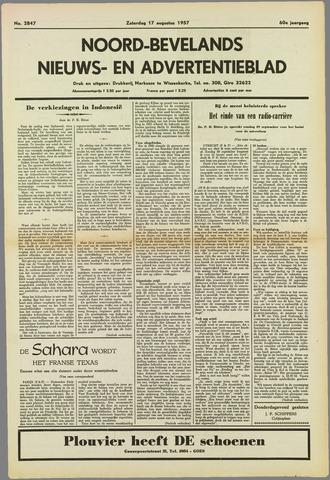 Noord-Bevelands Nieuws- en advertentieblad 1957-08-17