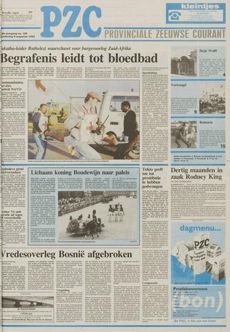 Provinciale Zeeuwse Courant 1993-08-05