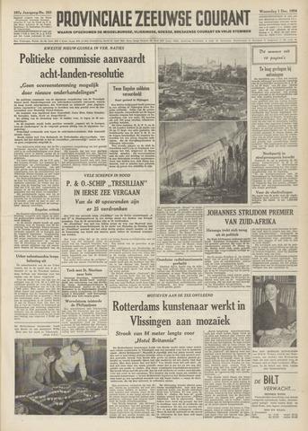 Provinciale Zeeuwse Courant 1954-12-01