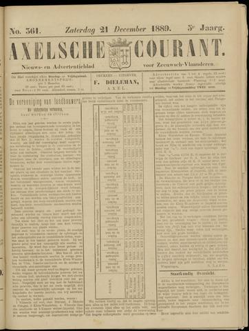 Axelsche Courant 1889-12-21
