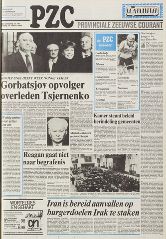 Provinciale Zeeuwse Courant 1985-03-12