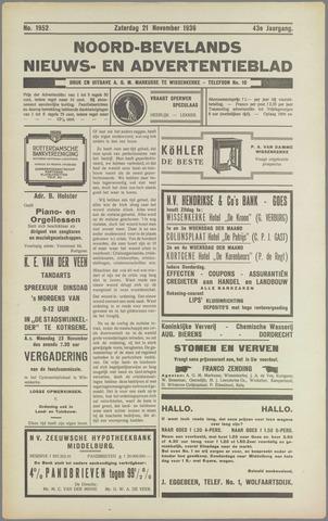 Noord-Bevelands Nieuws- en advertentieblad 1936-11-21
