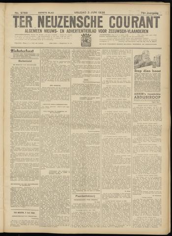 Ter Neuzensche Courant. Algemeen Nieuws- en Advertentieblad voor Zeeuwsch-Vlaanderen / Neuzensche Courant ... (idem) / (Algemeen) nieuws en advertentieblad voor Zeeuwsch-Vlaanderen 1938-06-03