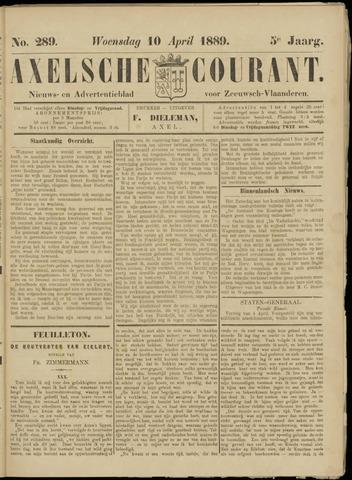 Axelsche Courant 1889-04-10