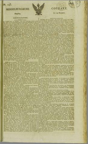Middelburgsche Courant 1825-11-29
