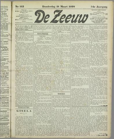 De Zeeuw. Christelijk-historisch nieuwsblad voor Zeeland 1920-03-18