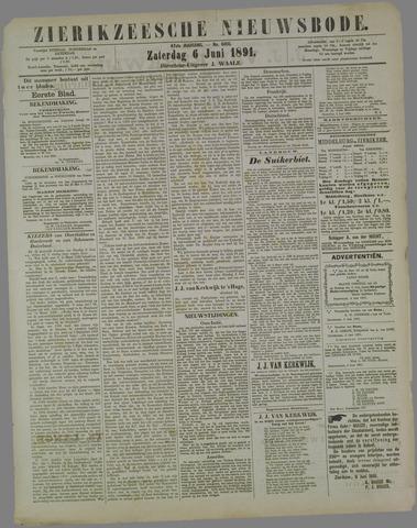 Zierikzeesche Nieuwsbode 1891-06-06