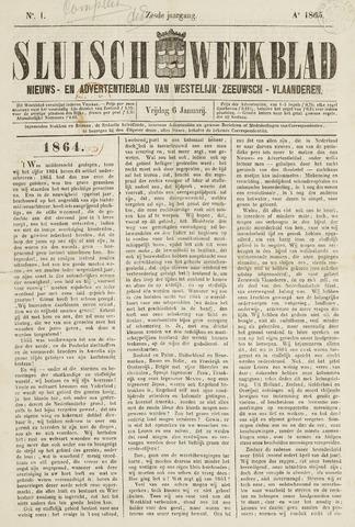 Sluisch Weekblad. Nieuws- en advertentieblad voor Westelijk Zeeuwsch-Vlaanderen 1865