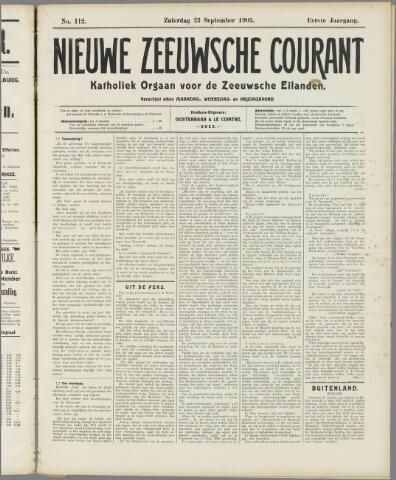 Nieuwe Zeeuwsche Courant 1905-09-23