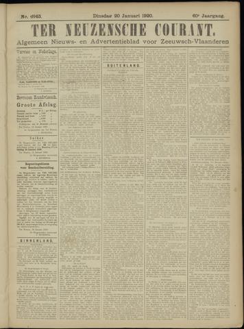 Ter Neuzensche Courant. Algemeen Nieuws- en Advertentieblad voor Zeeuwsch-Vlaanderen / Neuzensche Courant ... (idem) / (Algemeen) nieuws en advertentieblad voor Zeeuwsch-Vlaanderen 1920-01-20