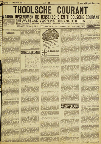 Ierseksche en Thoolsche Courant 1934-10-12