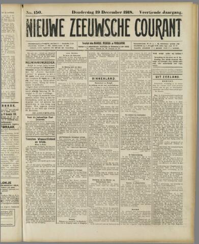 Nieuwe Zeeuwsche Courant 1918-12-19