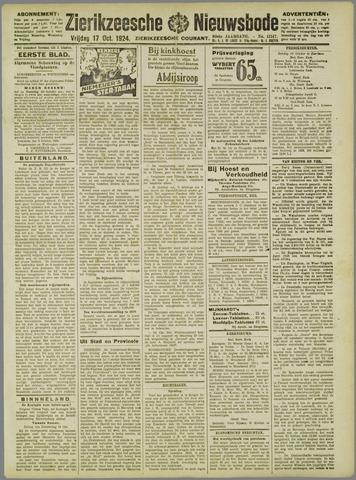 Zierikzeesche Nieuwsbode 1924-10-17