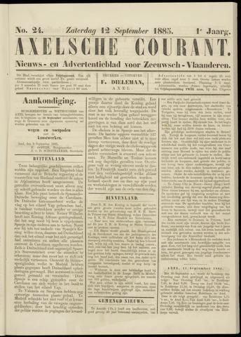 Axelsche Courant 1885-09-12