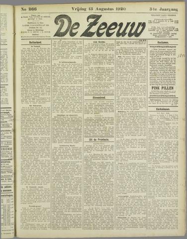 De Zeeuw. Christelijk-historisch nieuwsblad voor Zeeland 1920-08-13