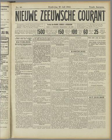 Nieuwe Zeeuwsche Courant 1914-07-30