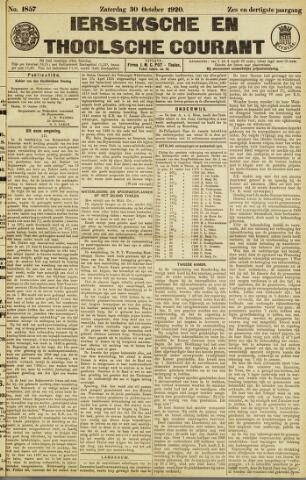 Ierseksche en Thoolsche Courant 1920-10-30