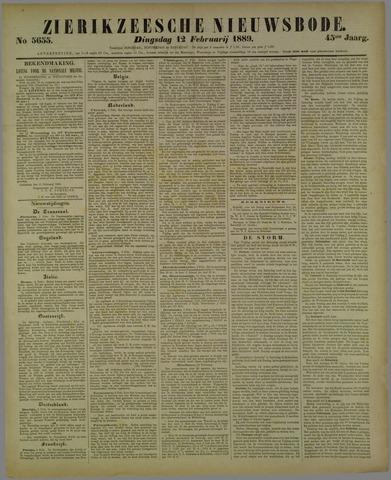 Zierikzeesche Nieuwsbode 1889-02-12
