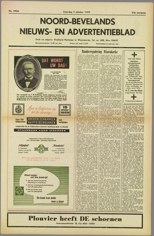 Noord-Bevelands Nieuws- en advertentieblad 1959-10-03