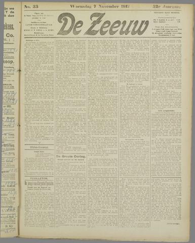 De Zeeuw. Christelijk-historisch nieuwsblad voor Zeeland 1917-11-07