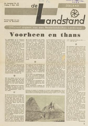 De landstand in Zeeland, geïllustreerd weekblad. 1943-09-03