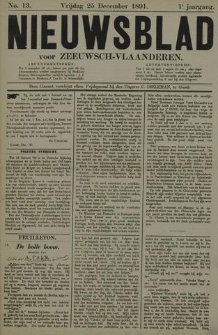 Nieuwsblad voor Zeeuwsch-Vlaanderen 1891-12-25