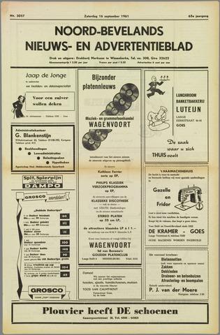 Noord-Bevelands Nieuws- en advertentieblad 1961-09-16