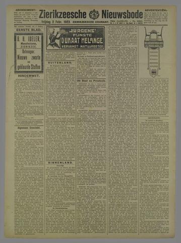 Zierikzeesche Nieuwsbode 1923-02-02